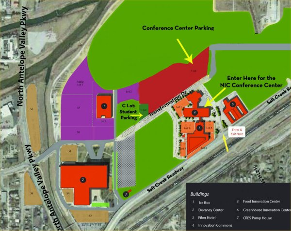 Map with Nebraska Innovation Campus